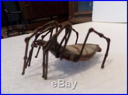Truly Rare! Orient & Flume Signed Art Glass Spider. Rare Tiffany Qlty