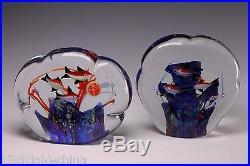 Two MURANO FISH Tank Aquarium Large Art Glass Paperweights PAPERWEIGHT