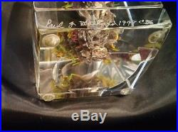 Unique Signed Paul Stankard Calla Lillies Root People Botanical Paperweight Mint