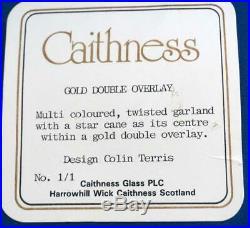 Unique Caithness Scottish Glass Paperweight Colin Tetris