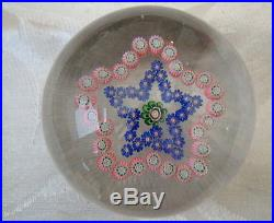 VICTORIAN CLICHY BACCARAT FRENCH ENGLISH GARLAND MILLEFIORI GLASS PAPERWEIGHT