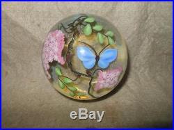 Vintage Lundberg Studios Art Glass Paperweight Signed D. Salazar 139/200 102613