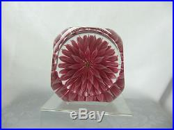 VINTAGE PERTHSHIRE 1972A PINK DAHLIA LIMITED EDITION PAPERWEIGHT IN BOX