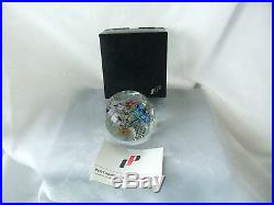 Vintage Perthshire 1974c Bouquet & Dragonfly Ltd. Edn. Paperweight & Certificate