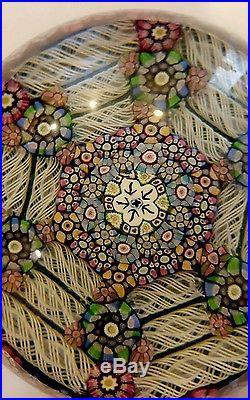 Vintage Perthshire Crieff Scotland Paperweight Millefiori Art Glass