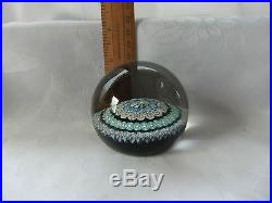 VINTAGE STRATHEARN SP100 CONCENTRIC MILLEFIORI PAPERWEIGHT MADE 1979-1980