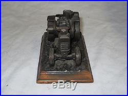 VTG A. C. R. E. H. BERGER & CO COPPER OIL PULL TRACTOR PAPERWEIGHT ADVANCE RUMELY
