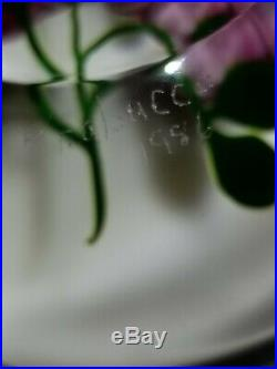 Victor Trabucco 1986 Magnum Pink Rose Glass Paperweight
