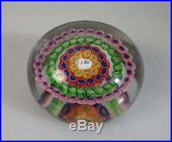 Vintage 1920s Baccarat Dupont Millefiori Glass Paperweight 55294