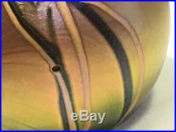 Vintage 1976 Orient And Flume Iridescent Paperweight Signed