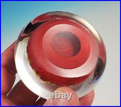 Vintage 1978-1981 Perthshire PP1 Paperweight Red Ground 1-1-1-2-2 Pattern 3