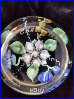 Vintage 1982 G. Held Signed & #'ed Orient and Flume Art Glass Paperweight