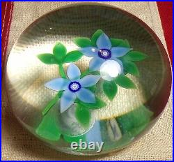 Vintage 1983 Selkirk Glass Paperweight Bouquet Peter Holmes 24/150