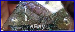 Vintage 1990 Correia L. E. Wel Art Glass Green Iridescent Paperweight Lmtd 18/250