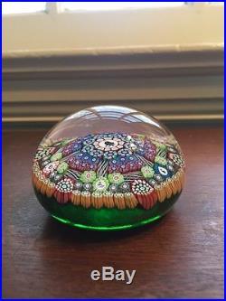 Vintage 1995 Perthshire Art Glass Paperweight Silhouette Complex Millefiori