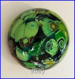 Vintage Art Glass- Murano Paperweight- Millefiori