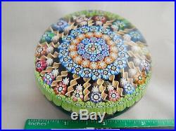 Vintage Art Glass Perthshire Millefiori Paperweight Numbered 104 Dated Cane- 237