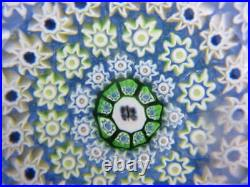 Vintage Art Glass- Perthshire Paperweight- Millefiori Canes- Butterfly Cane- 214