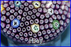 Vintage Baccarat 1972 PURPLE Signs Of The Zodiac Art Glass Paperweight France