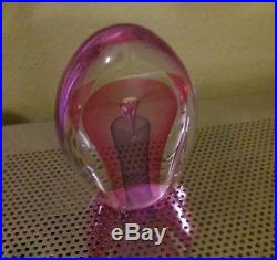 Vintage Custom Made Art GLASS Paperweight Sculptures Platinum One of a Kind