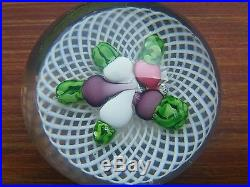 Vintage French Antique St. Louis French Art Glass Paperweight Turnips EX