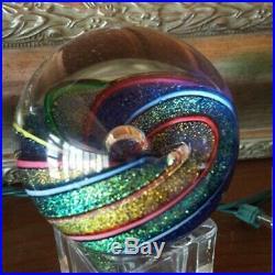 Vintage Glass Eye Studio Art Glass Paperweight Beautiful