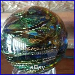 Vintage Glass Eye Studio Art Glass Paperweight Stunning