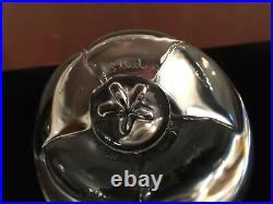 Vintage Hand-Signed STEUBEN APPLE 4 Crystal Glass Paperweight Figurine #7874 1A