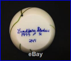 Vintage Lundberg Studios Limited Edition Paperweight SIgned by Steven Lundberg