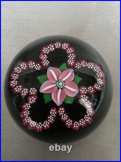Vintage Millefiori Lampwork Glass Flower Garland Paperweight