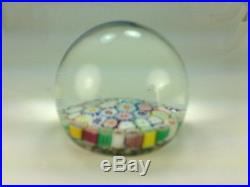 Vintage Multi Color Close Packed Millefiori Paperweight Canes