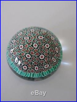 Vintage Murano Venetian Art Glass Paper Weight, Flowers Or Coral, Made In Italy