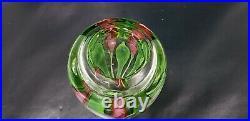 Vintage Orient & Flume Scott Beyers Signed & Callas Floral Paperweight Art Vase