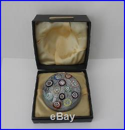 Vintage PERTHSHIRE Paperweight in Original Box From Scotland withLabel