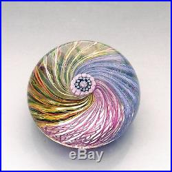 Vintage Perthshire PP20 milleifori + spiral glass paperweight / presse papiers