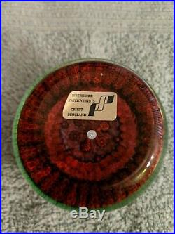 Vintage Perthshire Paperweight Crieff Scotland Milefiori Circular Pattern