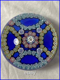 Vintage Perthshire Paperweight P1974 Millefiori Glass Early 1974 Crieff Scotland