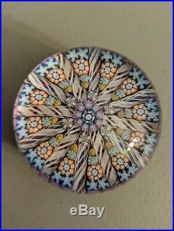 Vintage Perthshire Paperweight Scotland Milefiori Circular Pattern