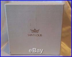 Vintage Saint Louis Art Glass Paperweight Millefiori Basket Of Flowers Piedouche
