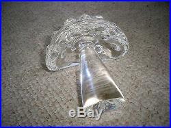 Vintage Steuben Art Glass Crystal Mottled Mushroom Figure Paperweight 6 1/8