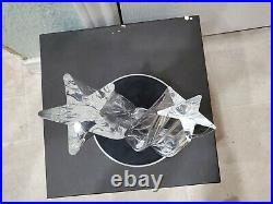 Vintage Steuben Crystal Shooting Stars Paperweight Figurine with Box & Storage Bag