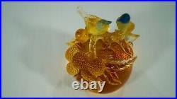 Vintage Tittot China Art Crystal Rings of Fulfillment Sculpture or Paperweight