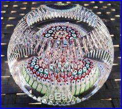 Vintage Whitefriars Concentric Millefiori Mushroom Faceted Paperweight Stunning
