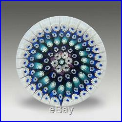 Vintage Whitefriars concentric millefiori glass paperweight / presse papiers