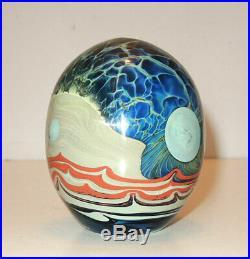 Vtg'71 John Lewis Studio Art Glass Bud Vase/Paperweight Signed & Dated