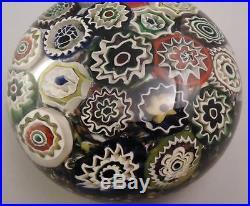 Vtg Murano Italy Millefiori Paperweight circa 1930 Art Glass Must see HUGE RARE