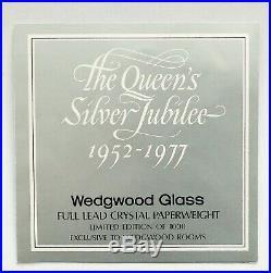 +WEDGWOOD QUEEN´S JUBILEE STERLING SILBER+ Paperweight Briefbeschwerer Sulfure