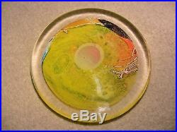 WES HUNTING Flat Field in Yellow Paperweight or Sculpture RARE signed