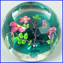 WHITEFRIARS CAITHNESS LTD EDITION DOG ROSE GLASS PAPERWEIGHT NO. 18 of 100