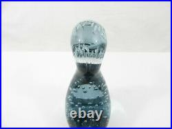WHITEFRIARS Controlled Bubble Paperweight DILLY DUCK in ARTIC BLUE VERY RARE